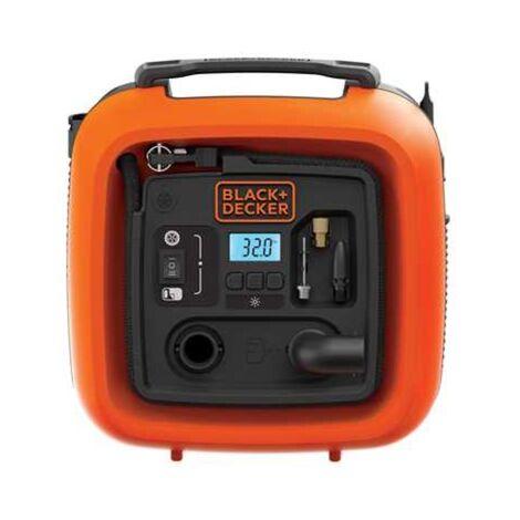 BLACK+DECKER Kompressor ASI400-XJ, 11bar, Luftpumpe, orange/schwarz, 12 Volt