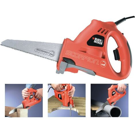 Black Decker KS890E Scorpion Hand Reciprocating Saw Jigsaw Wood Plastic Metal +