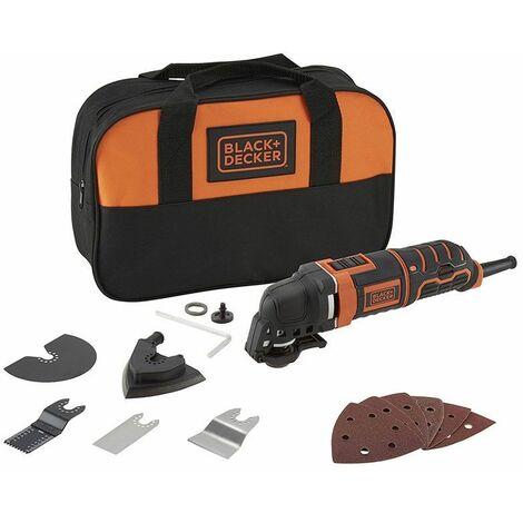 Black & Decker MT300SA2 300W Outil oscillatoire avec 12 accessoires et un sac de transport