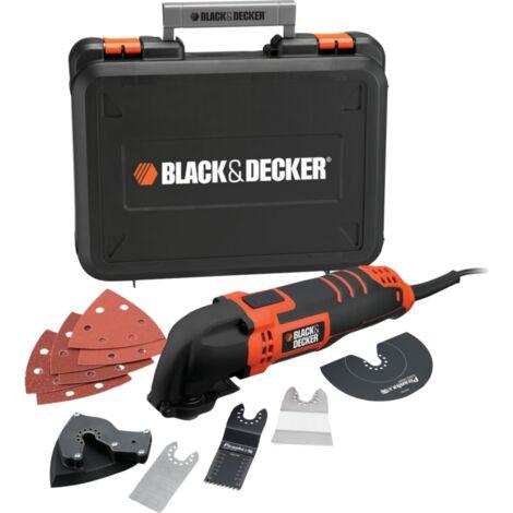 BLACK+DECKER Multifunktions-Werkzeug MT300KA, orange/schwarz, Koffer, 300 Watt, 12-tlg. Zubehörset
