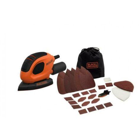 Black & decker outil multifonction 55w souris avec accessoires bew230bc-qs