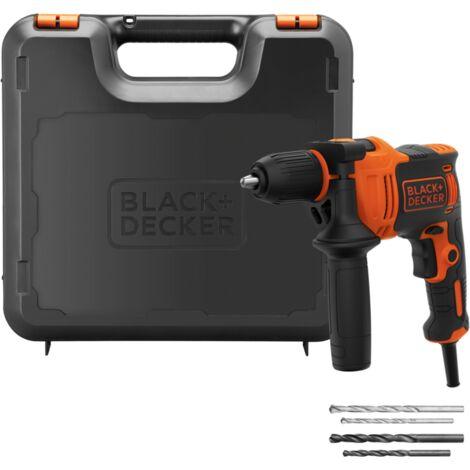 BLACK+DECKER Schlagbohrmaschine BEH710K, orange/schwarz, Koffer, 710 Watt