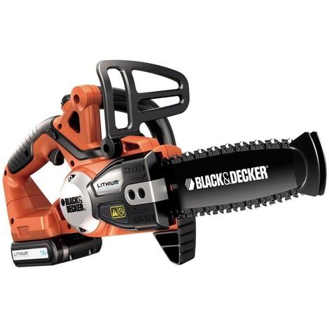 Black & Decker Scie élagueuse GKC1820L20K 18V Li-Ion sans fil avec batterie, chargeur, coffret et chaine de rechange