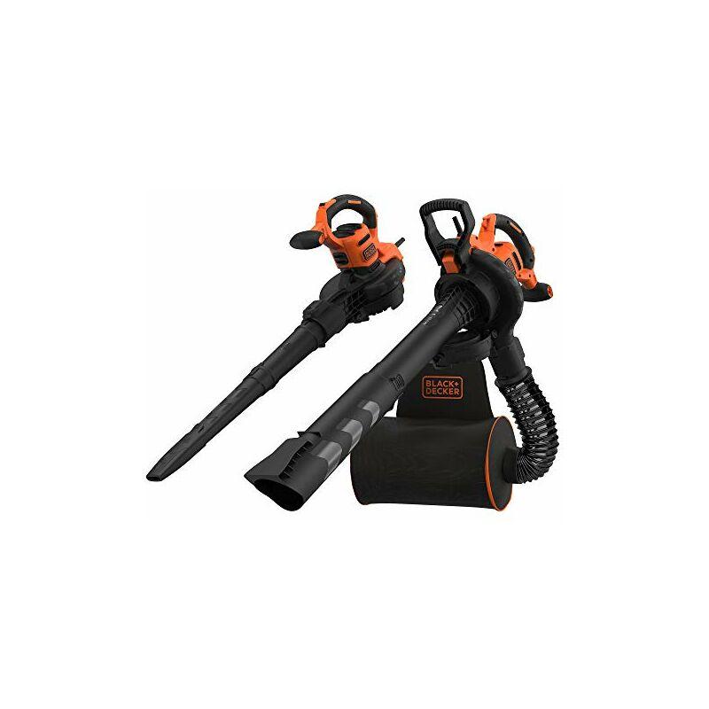 Black&decker BLACK+DECKER Soffiatore Elettrico Trituratore, Aspiratore Foglie Capacità di raccolta 50 Li