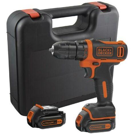 BLACK & DECKER Visseuse sans fil avec 2 batteries et un coffret 10.8 V