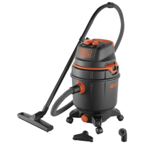 BLACK & DECKER water and dust vacuum cleaner - 1600W - Plastic tank - 30L