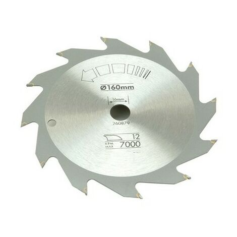 Black & Decker X13100 Circular Saw Blade 160 x 16mm x 12T Fast Rip