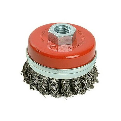Silverline Rotary acier Twist-Knot Cup Brush