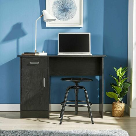 """main image of """"Black Desk 1 Drawer 1 Door Compact Computer Workstation Home Office Table Tyler"""""""