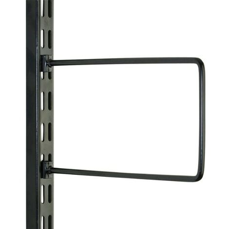"""main image of """"Black Flexi Bookend 250mm x 150mm - Twin Slot Shelving Pair"""""""