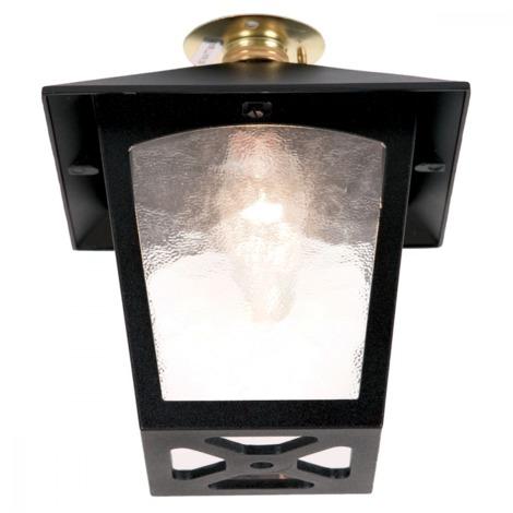 Black Flush Porch Lantern - 1 x 60W BC by Happy Homewares