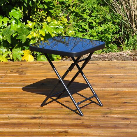 """main image of """"Black Folding Square Side Table Outdoor / Indoor"""""""