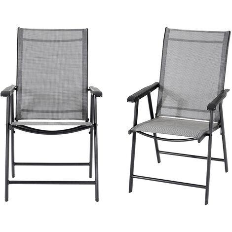 Black Garden Foldable Chair