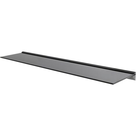 Black Glass Floating Shelves Shelf Bathrooms Kitchens Living Rooms (120cm)