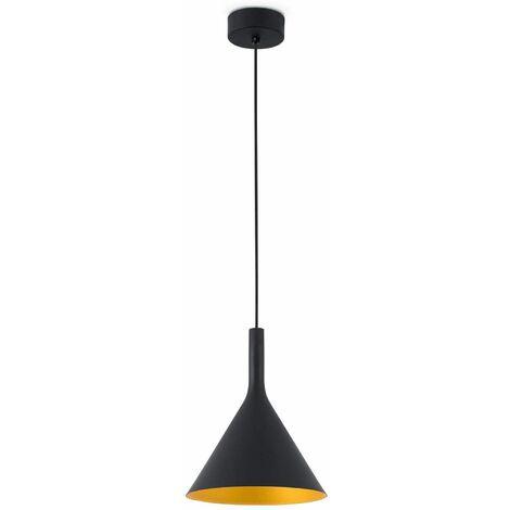 Black / gold pendant lamp Pam h180