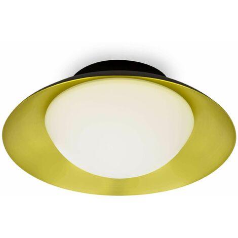 Black gold side ceiling light 1 bulb