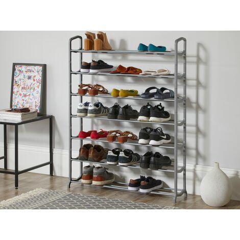 Black & Grey 7 Tier Shoe Storage Rack