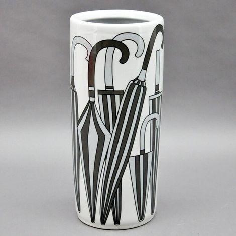 Black Grey And White Ceramic Umbrella Stand
