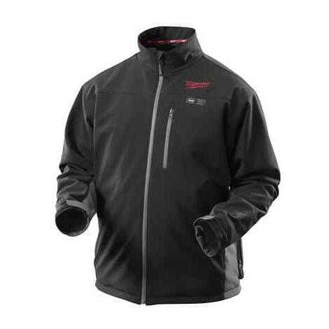 Black Heated Jacket Size L MILWAUKEE M12 HJ BL2 201 12V 2.0Ah Li-Ion 4933447908