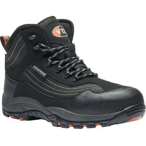 Black Hiker Safety Boots, Waterproof