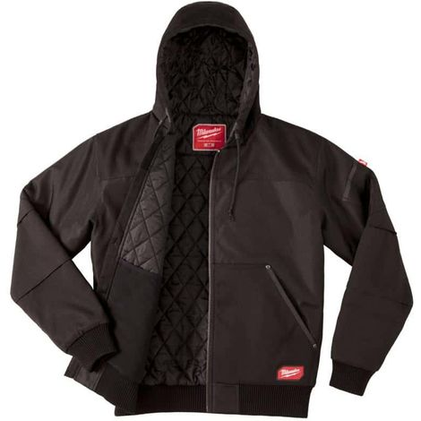 Black Hooded Jacket Milwaukee WGJHBL Size M 4933459436