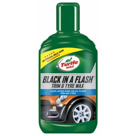Black in a Flash Trim & Tyre Wax 300ml (TWX52812)