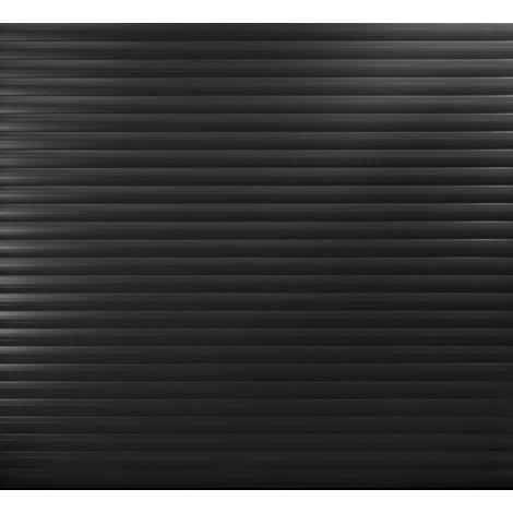 Black Insulated Roller Garage Door for 2400 to 2449mm width