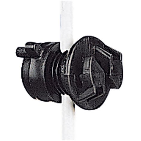 Black insulator for round stake with diameter 4-10 mm - 20 pieces Gallagher