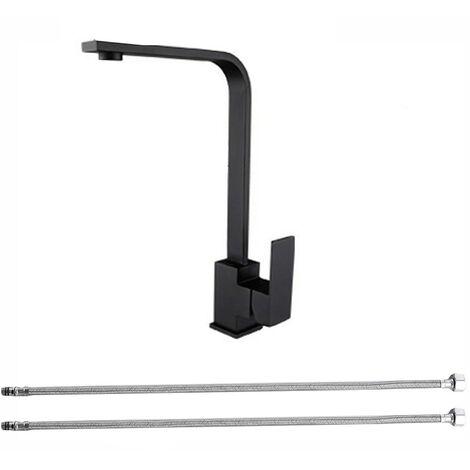 """main image of """"Black Kitchen Sink Taps Mixer Single lever Swivel Spout Tap Faucet"""""""
