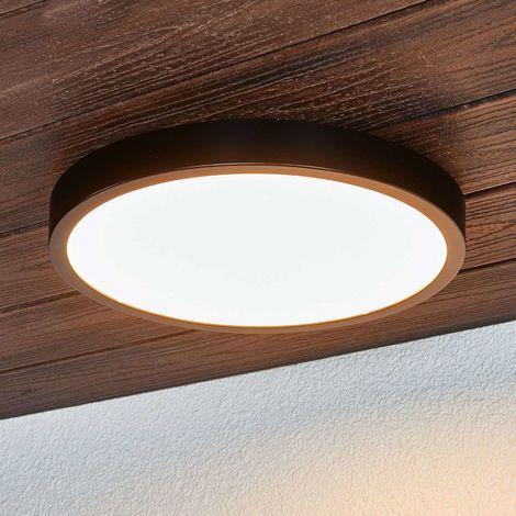 Black Liyan LED ceiling light, IP54