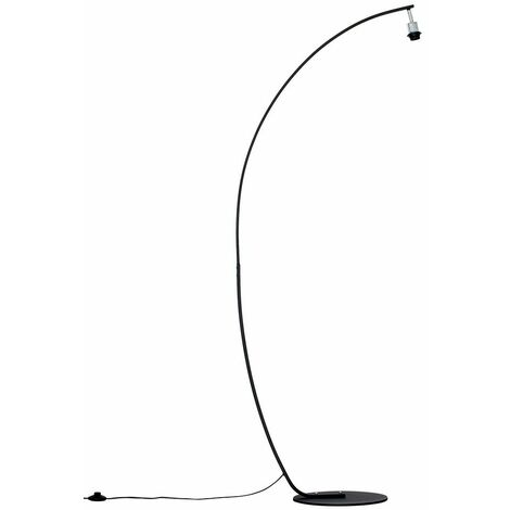 Black Metal Arched Style Floor Lamp Base