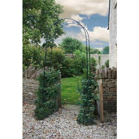 "main image of ""Black Metal Garden Arch Heavy Duty Archway"""