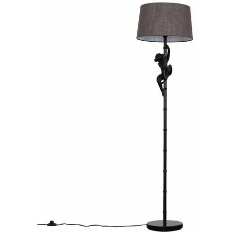 Black Monkey Floor Lamp Light Shades + LED Light Bulb