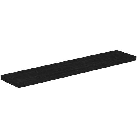 Black Oak 600mm Floating Bathroom Shelf