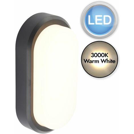 Black Oval LED Outdoor Light