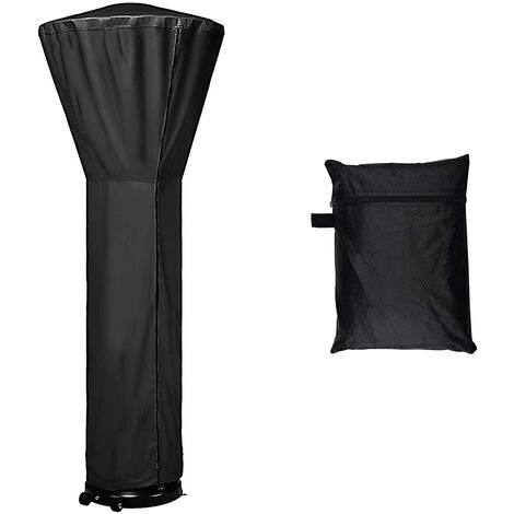 """main image of """"Black Patio Heater Cover Waterproof Oxford Fabric with Zipper Storage Bag Rainproof Snow Protection"""""""
