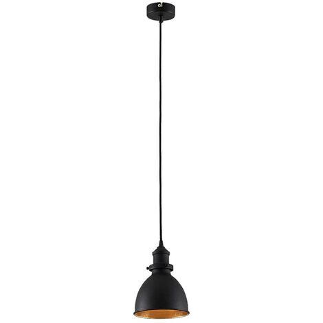 Black pendant light Jasminka, industrial style