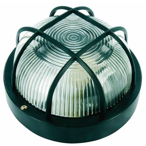 Black Plastic Bulkhead Light - No Bulb (BYRBE100Z)