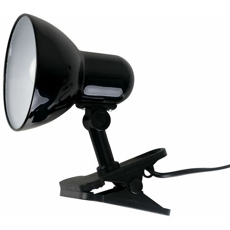 Black Portable & Adjustable Metal Table Clamp Clip On Desk Spotlight Lamp