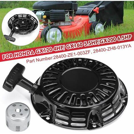 Black Recoil Lawn Mower Starter Set + Pulley Cup For Honda GX120 4HP / GX160 5.5HP / GX200 6.5HP