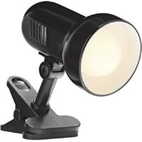 Black Reflector Clip on Spot Light with Inline Switch by Happy Homewares