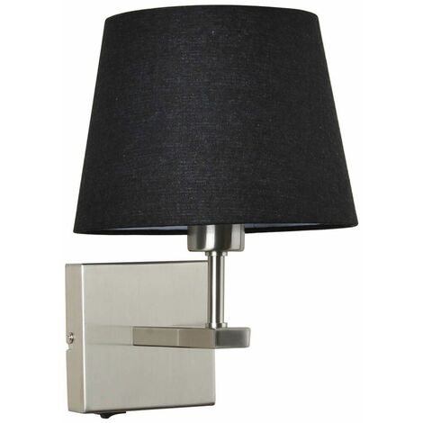 Black round bedside wall lamp Norte