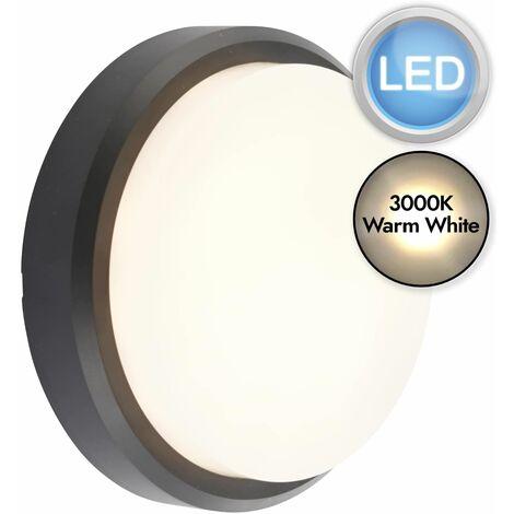 Black Round LED Outdoor Light