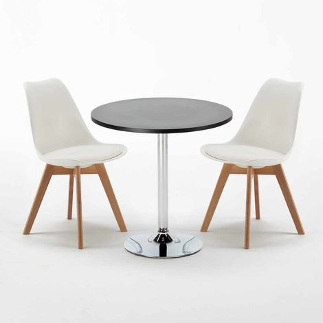 Black Round Table 70x70cm And 2 Chairs Home Interiors NORDICA COSMOPOLITAN