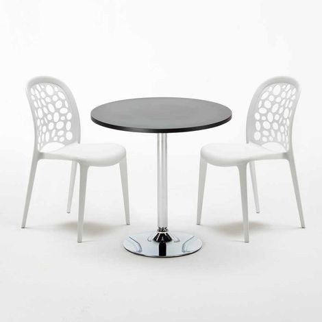 Black Round Table 70x70cm And 2 Chairs Home Interiors WEDDING COSMOPOLITAN