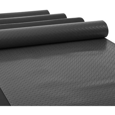 Black Rubber Flooring Sheeting Matting Roll Anti Slip Garage Floor Covering