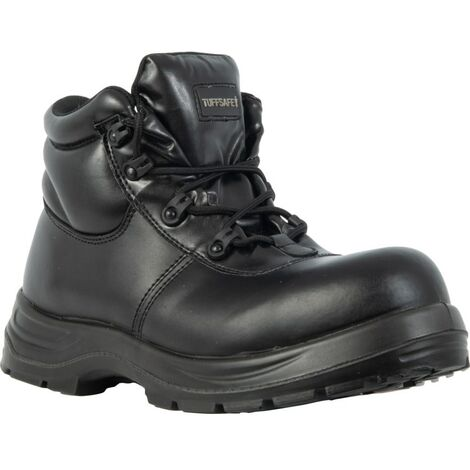 Black Safety Boots, Steel Toecap