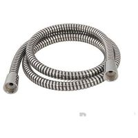 Black / Silver Corrugated PVC Shower Hose - 1.5m