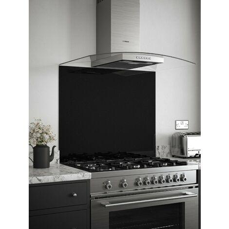 "main image of ""Black Sparkle Glass Kitchen Splashbacks - different dimensions available"""