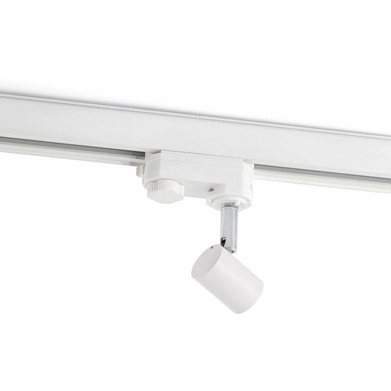 Image of 1-bulb white track spotlight